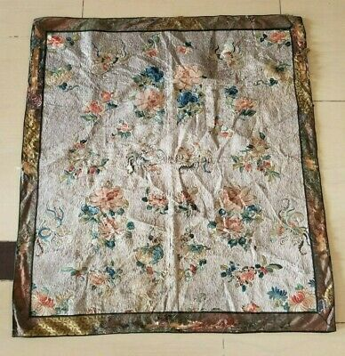 Antique Chinese Hand Embroidery Wall Hanging Panel 90X82cm (X957)