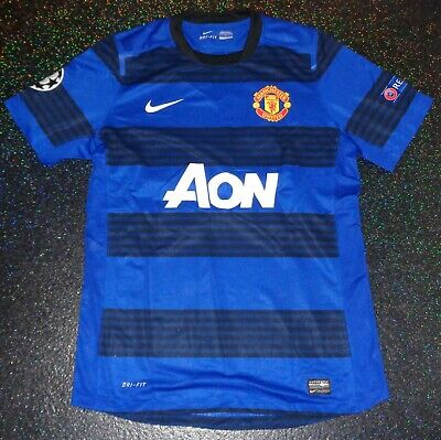 7571679945c MATCH WORN ISSUED Manchester United Nike Away Champions League Shirt ...