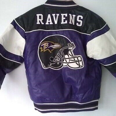 Genuine size 10-12 years Baltimore Ravens leather jacket in excellent condition