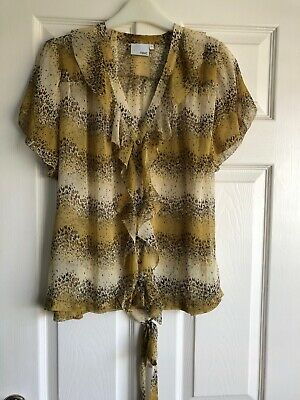 LADIES PRETTY FRILL FRONTED SHEER  TOP SIZE 22 By NEXT