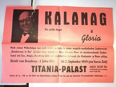Altes orig.Theater-Plakat Aushang Poster Titania-Palast Berlin von 1959 (B244)