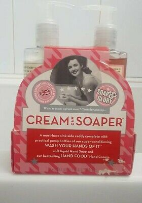 Soap And Glory Cream & Soaper Hand Cream & Hand Wash With Metal  Sink Caddy☆☆☆☆☆