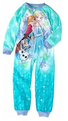 Disney Frozen Elsa and Olaf Girl/'s Pajama Blanket Sleeper Size 6-6X 10-12