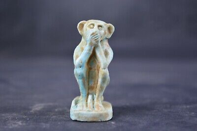 Egyptian statue / sculpture of the god of wisdom and writing  - Baboon Statue