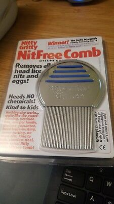 Nitty Gritty Nit  Free Comb..needs No Chemicals. Kind To Kids.new And Sealed.