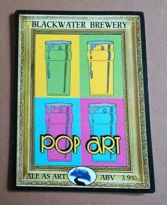 Beer pump clip badge front BLACKWATER brewery POP ART cask ale Shropshire