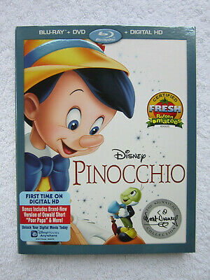 Pinocchio (Blu-ray/DVD/Digital Copy, Signature Collection 2017) *NEW w/SLIPCOVER