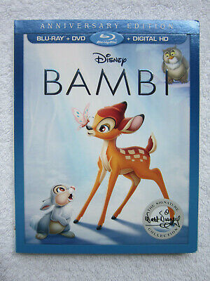 Bambi (Blu-ray/DVD/Digital Copy, Signature Collection 2017) **NEW** w/SLIPCOVER