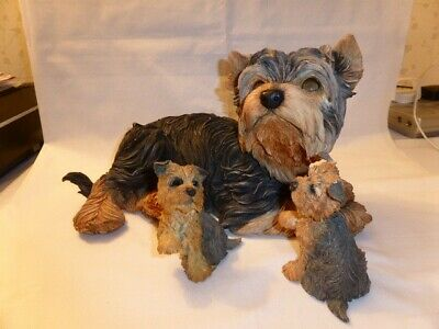 Yorkshire Terrier & Two Pups - By Country Artists & Puppy Love