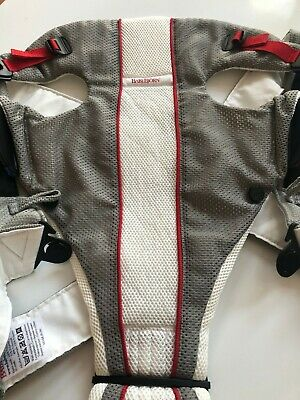 Baby Bjorn Carrier - Air Mesh Lightweight & Breathable- Grey/White/Red
