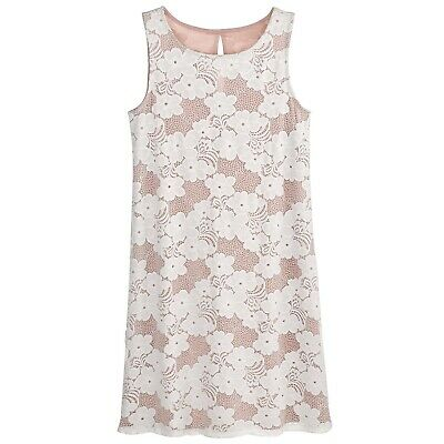 Catalog Classics Women's Naomi Lace Dress - Floral Sleeveless Two-Tone Slip Gown