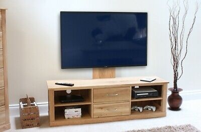 Mobel Oak Mounted Widescreen Television Cabinet Brown - Baumhaus