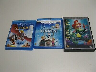 Disney DVD, Blu-Ray and DVD/Blue-Ray Combo 14 Movie Title Collection