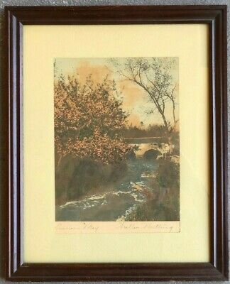 "Wallace Nutting Print On Textured Paper ""Luscious May"" Signed"