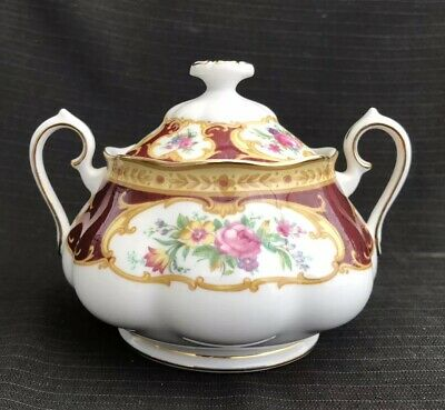 Royal Albert - Lady Hamilton - Lidded Sugar Pot - 2nd Quality
