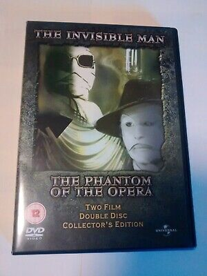 The Invisible Man / Phantom Of The Opera DVD