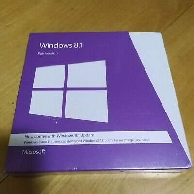 Microsoft Windows 8.1 Full Version 32Bit & 64Bit DVD MS WIN 8 SEALED NEW