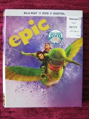 Epic Blue Sky Blu-Ray Slipcover Only (No Movie) Free Shipping - Rare Htf Oop