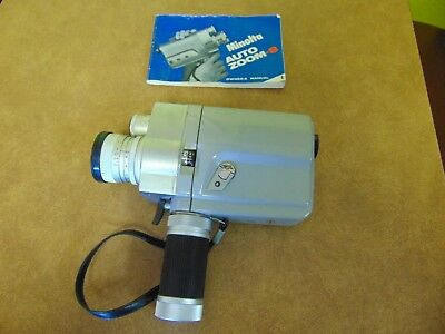 VTG 8MM MINOLTA ZOOM 8 MOVIE CAMERA With Case And Manual