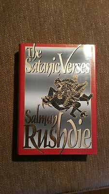 The Satanic Verses by Salman Rushdie signed HC 1st edition/1st printing