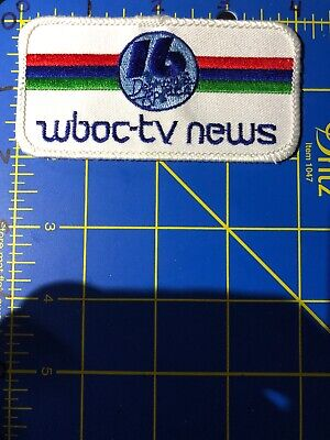 VINTAGE WBOC-TV WBOC TV News Channel 16 Logo Patch 102 5 Delmarva DE MD VA  Radio