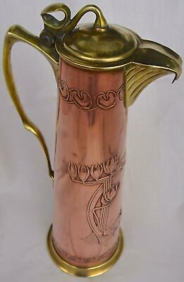 Superb Carl Deffner Secessionist Art Nouveau Jug, Pitcher