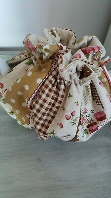 Vintage Style /shabby Chic Tea Cosy Fully Reversible Complimenting Daisy Fabric
