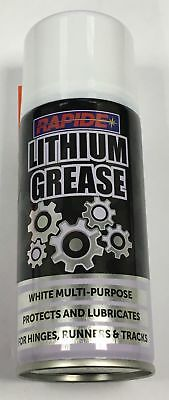 Rapide DP60 White Lithium Spray Grease Maintenance Can Synthetic Lubricant 200ml