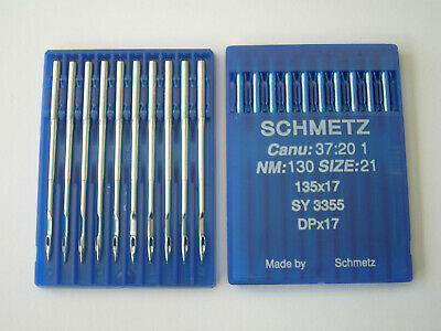 10 Schmetz Industrial Walking Foot Sewing Machine Needles 135X17 Size 130/21