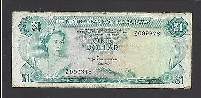 Bahamas 1 Dollar P27 1968 Queen *replacement* Z Ship Caribbean Currency Banknote Bahamas Coins & Paper Money