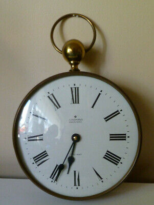 Vintage Junghans Electronic Ato-Mat Wall Clock In Metal Frame