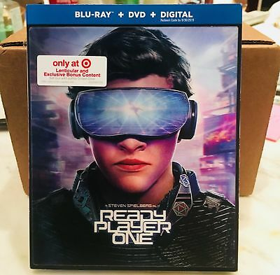Ready Player One Target Lenticular Blu-Ray Slipcover Only! (No Movie) Free Ship