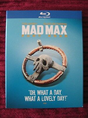 Mad Max: Fury Road Blu-Ray Slipcover Only (No Movie) Free Shipping Rare Oop Htf