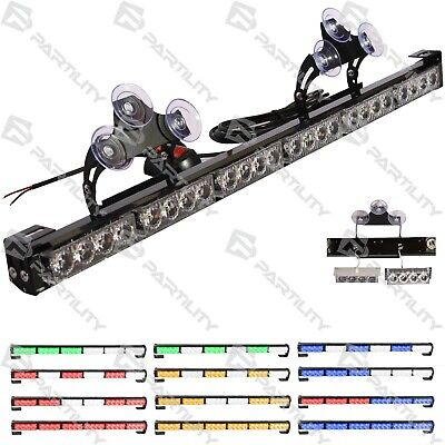 "CUSTOM 18"" Bar Strobe Light Car Truck Warn Traffic Amber Blue Green Red Blue"