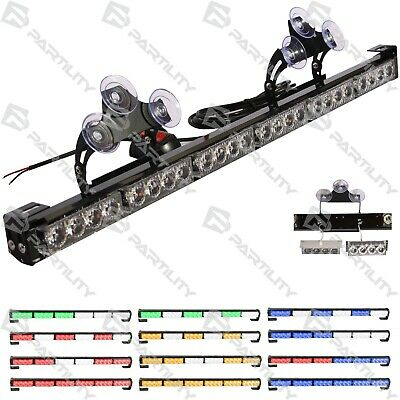"CUSTOM 25"" Bar Strobe Light Car Truck Warn Traffic Amber Blue Green Red White"