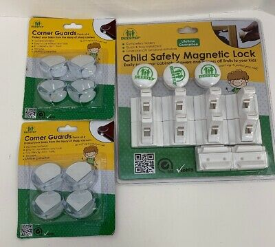 Baby&Child Proof Cabinet & Drawers Magnetic Safety Locks Set of 8 Locks & 2 Sets