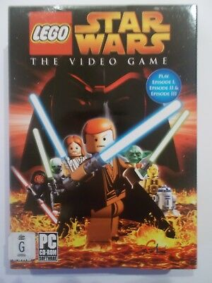 New Rare Lego Star Wars The Video Game Windows Pc Computer Game Episode 1,2.3,
