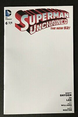 DC Superman Unchained The New 52! Blank Sketch Cover Variant Jim Lee Snyder