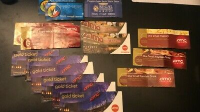 Movie Ticket Package (AMC + Regal) 12 Tickets Total!