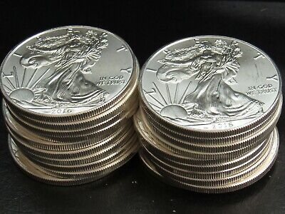2016 1 Oz Silver American Eagle Uncirculated Coins  Roll of (20)  NO RESERVE
