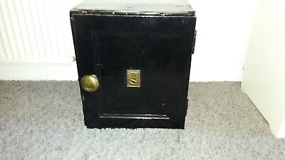 Vintage antique Safe with ornate Skeleton key