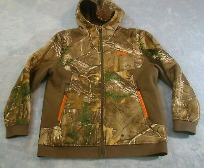 86469a69897b4 Under Armour Youth Boys Storm Camo Fleece Lined Hooded Zip Up Jacket Size  Ymd