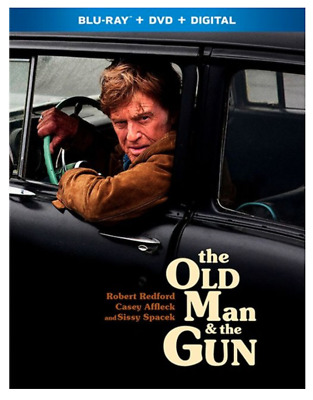 """""""The Old Man & The Gun"""" [Blu-ray + DVD + Digital]-NEW Factory sealed w Slipcover"""