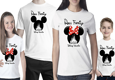 Personalised Minnie Mickey Mouse Disney 2020 Vacation T-Shirt Florida/Paris