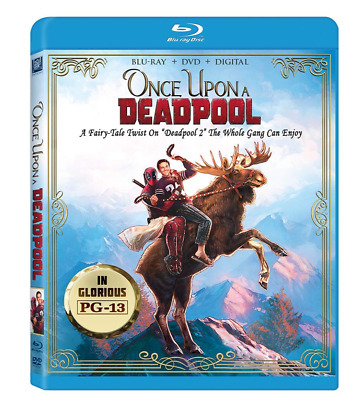 """""""ONCE UPON A DEADPOOL"""" [BLU-ray + DVD + Digital] NEW Factory sealed"""