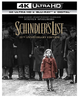 """SCHINDLER'S LIST"" 25th Ann Edition [4K ULTRA HD + Blu-ray + Digital] NEW Sealed"