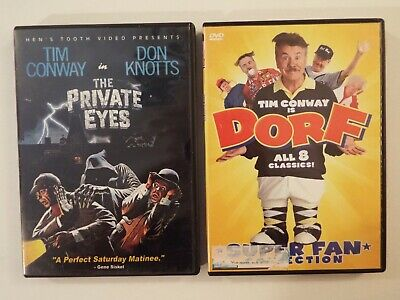 2 DVD-lot-Tim Conway-The Private Eyes-Don Knotts-Dorf-Super Fan Collection-Golf*