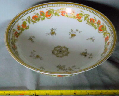 Antique Vintage Haviland Limoges France serving Bowl fruit Porcelain China 1915