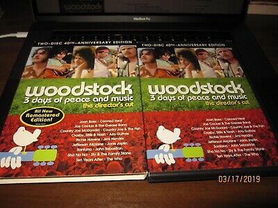 Woodstock: Three Days of Peace & Music the director's cut 40th anniversary BIN
