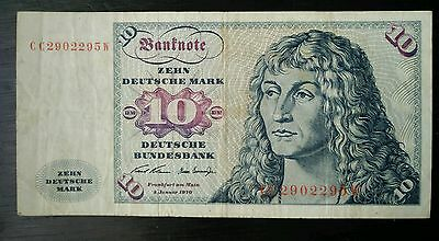 Germany 1960  10 Deutsche Marks Note